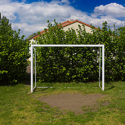 Football goal - p813m908615 by B.Jaubert