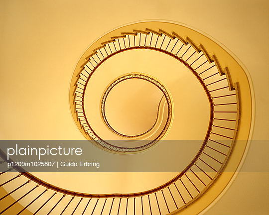 Yellow staircase - p1209m1025807 by Guido Erbring