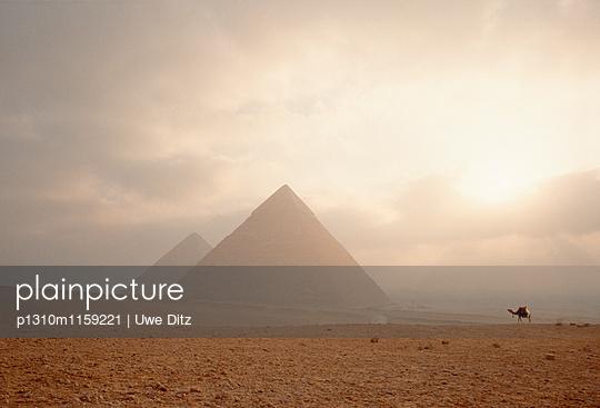Pyramiden von Gizeh - p1310m1159221 von Uwe Ditz