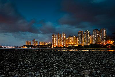 Tung Chung at night - p1558m2132801 by Luca Casonato