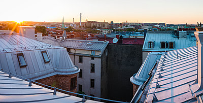 Block of flats, high angle view - p312m1211317 by Stefan Isaksson