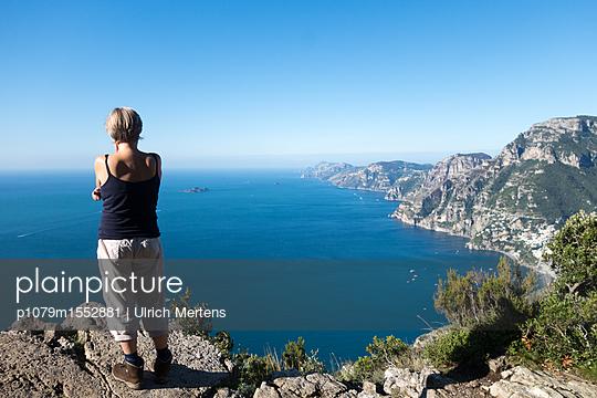 Ausblick vom Höhenwanderweg an der Amalfiküste - p1079m1552881 von Ulrich Mertens
