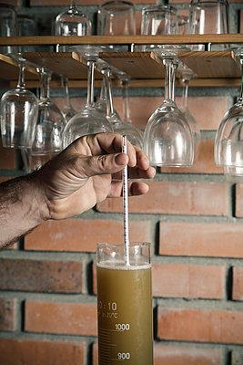 Kontrolle bei der Bierherstellung - p600m2134859 von Laura Stevens