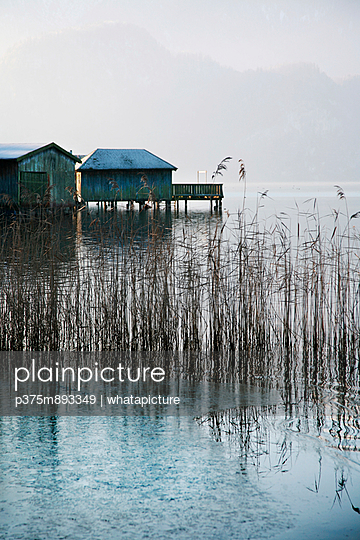 Boatshed in Bavaria - p375m893349 by whatapicture