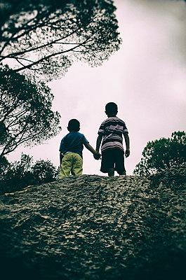 Two boys on the hill - p794m933209 by Mohamad Itani