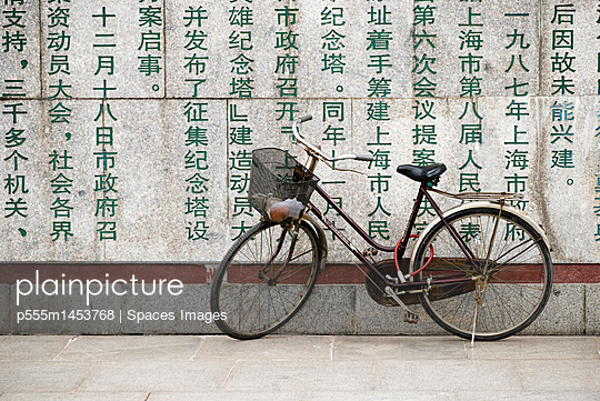 Bicycle at the Monument to the People\'s Heroes