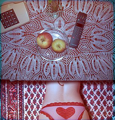 Woman in panties on the carpet - p230m2152666 by Peter Franck