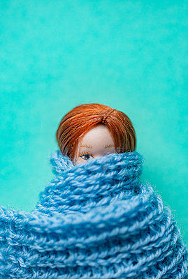 Doll with scarf - p971m2253234 by Reilika Landen