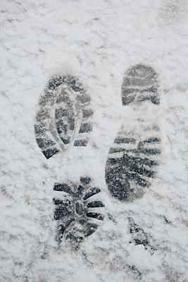 Fußspuren im Schnee    - p450m2056661 von Hanka Steidle