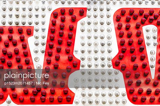 Funfair, Neon sign - p1523m2071457 by Nic Fey