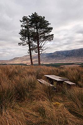 Picknicktisch in Irland - p470m1165094 von Ingrid Michel