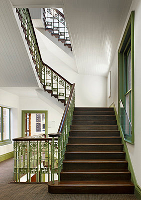Original staircase within 61 Oxford Street, Manchester, Greater Manchester. - p855m713239 by Daniel Hopkinson