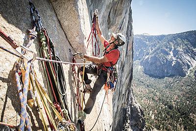 El Cap Climbing - p1424m1500597 by Suzanne Stroeer