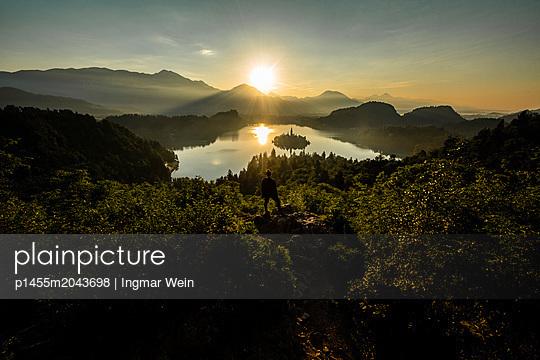 Early morning sunrise at Lake Bled - p1455m2043698 by Ingmar Wein