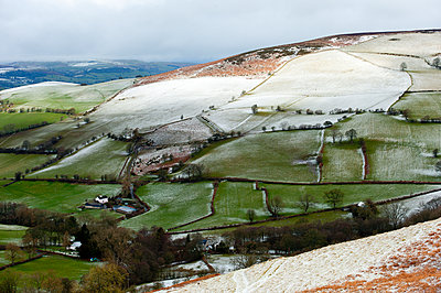A wintry landscape at springtime in Powys, Wales, United Kingdom, Europe - p871m1136149 by Graham Lawrence