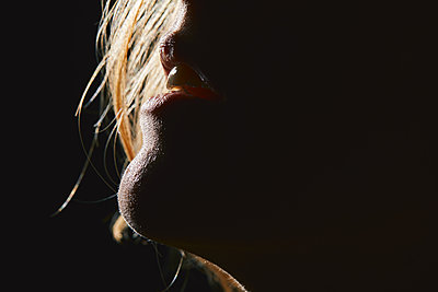 Woman's mouth - p1540m2128425 by Marie Tercafs