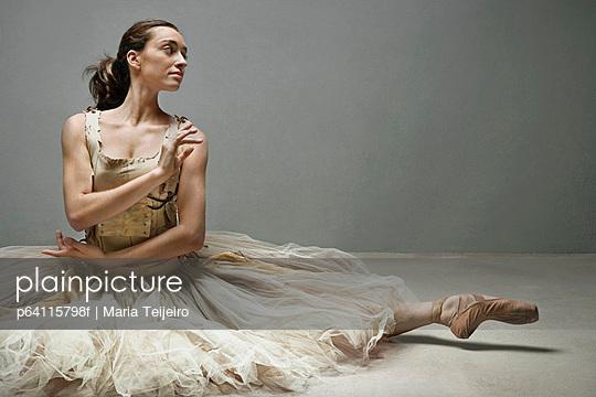 Ballet dancer posing in ornate gown