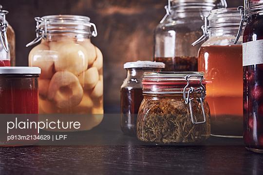 Variety of preserving jars  - p913m2134629 by LPF