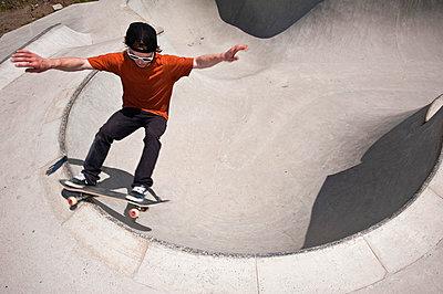 Skateboard fahren - p2200798 von Kai Jabs