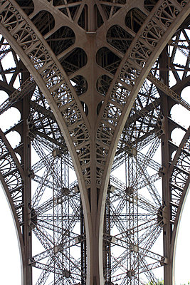 Detail of ironwork of Eiffel Tower in Paris - p3313095 by Gail Symes