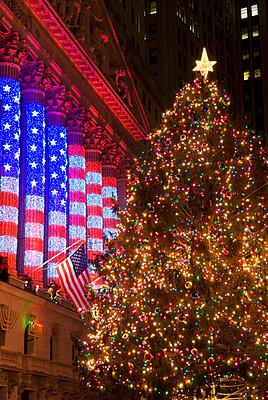 New York Stock Exchange, Christmas Tree, New York City - p5690084 by Jeff Spielman