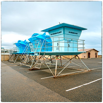No Lifeguards at Pismo Beach - p1154m1138579 by Tom Hogan