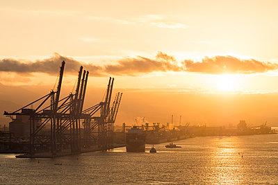 Brazil, Paranaguá, Container yard - p930m2148389 by Ignatio Bravo