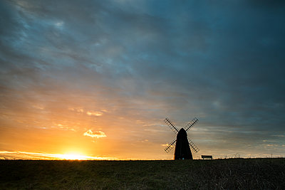 Rottingdean Windmill at sunset - p1516m2158246 by Philip Bedford