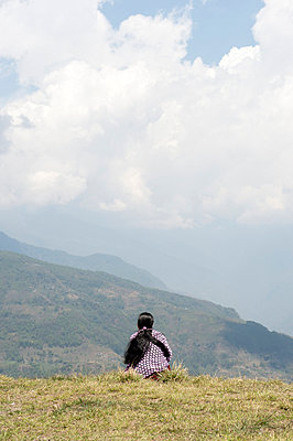 Aussicht auf die Ausläufer des Annapurnamassives - p949m948543 von Frauke Schumann