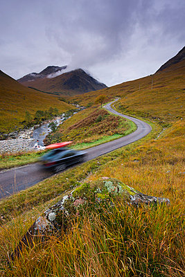 Touring the highlands of Scotland, Glen Etive, Highlands, Scotland, United Kingdom, Europe - p8713002 by Adam Burton
