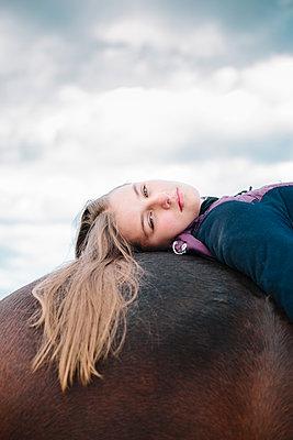 Girl on a horse - p1621m2228876 by Anke Doerschlen