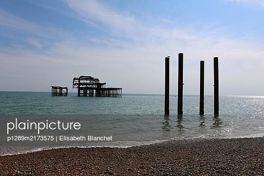 Remains of Brighton West Pier - p1289m2173575 by Elisabeth Blanchet