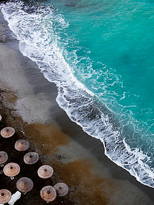 View of a beach from above, Turkey. - p31224717f by Peter Carlsson
