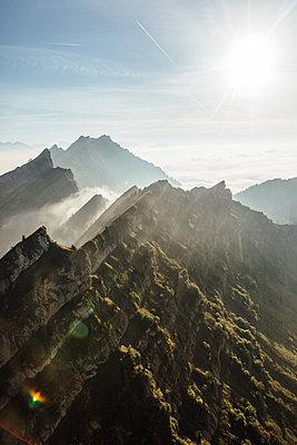 Switzerland, mountains and fog - p300m2062241 by letizia haessig photography