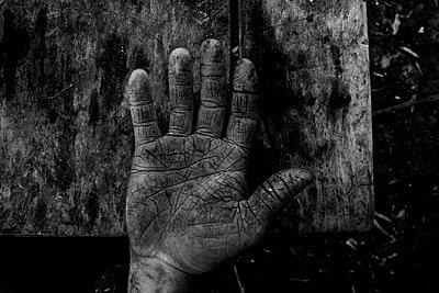 Rissige Hand - p910m1195601 von Philippe Lesprit