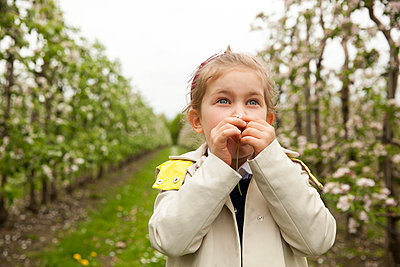 Girl at apple plantation - p902m1021354 by Mölleken