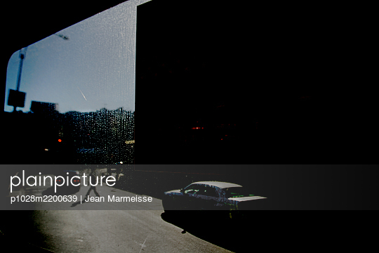 View through window, Manhattan, NYC - p1028m2200639 by Jean Marmeisse