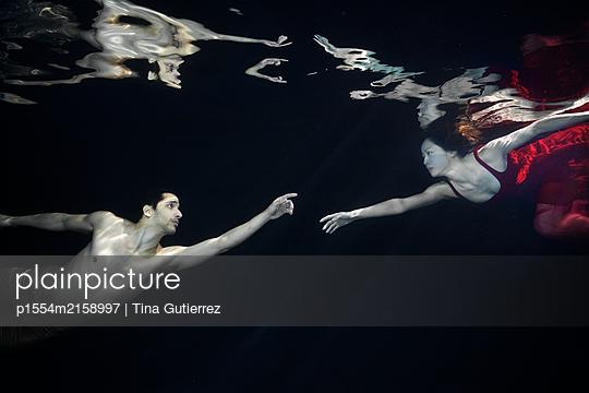 Underwater dancer - p1554m2158997 by Tina Gutierrez