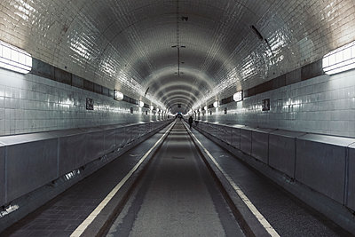 Old Elbe tunnel, Hamburg, Germany - p301m2101180 by Norman Posselt