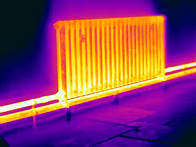 Thermal image of radiator - p429m765320 by Joseph Giacomin