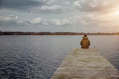 Deutschland, einsam, See Winter, Zukunft, Zweifel - p300m2166244 von Annie Hall