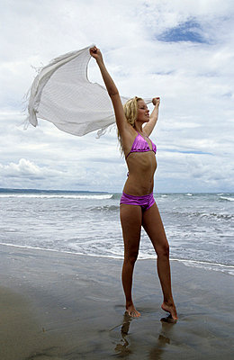 Beach towel - p0452128 by Jasmin Sander