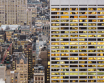 Office buiding, skyscrapers in Manhattan - p1542m2209879 by Roger Grasas