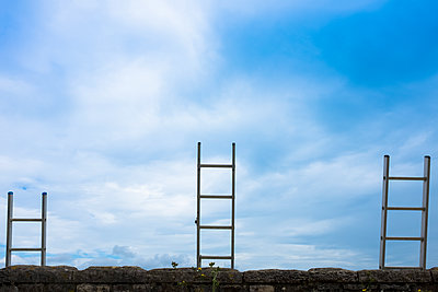 Three ladders - p1228m1150151 by Benjamin Harte