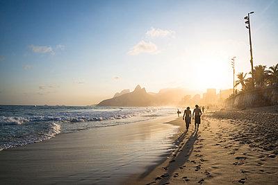 Ipanema beach at sunset, Rio de Janeiro - p1170m1090759 by Bjanka Kadic