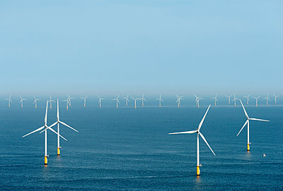 Offshore wind farm, North Sea - p429m1156268 by Mischa Keijser
