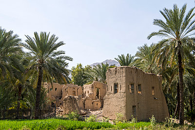 Middle East, Oman.  An old disused mansion in the oasis at Nakhal. - p652m1576203 by John Warburton-Lee