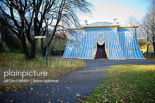 Bauwerk Kupferzelt im Hagapark in Solna - p972m1160301 von Berno Hjälmrud