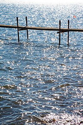 Wooden pier - p3820252 by Anna Matzen