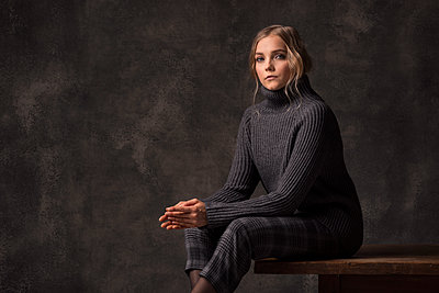 Woman with turtle neck - p947m2177940 by Cristopher Civitillo